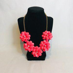J.Crew Crystal Pink Floral Burst Necklace # 91